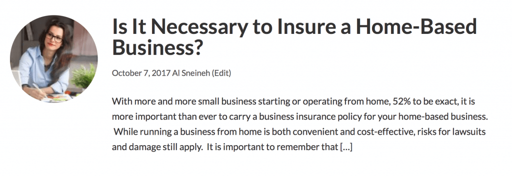 Is it Necessary to Insure a Home-Based Business
